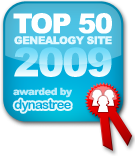 Dynastree Top 50 Genealogy Site Award